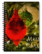 Retro Christmas Spiral Notebook