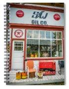Retro Gas Station Spiral Notebook