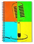 Retro Microphone Pop Art 2 Spiral Notebook