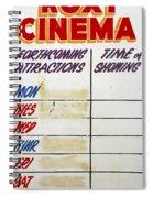 Retro Roxy Cinema Sign Spiral Notebook