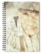 Retro Typist With Dream To Inspire Spiral Notebook