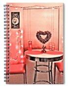 Retro Valentine Spiral Notebook