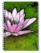 Retro Water Lilly Spiral Notebook