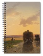 Return From The Field In The Evening Glow Spiral Notebook