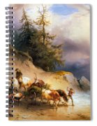 Return From The Mountain Pasture Spiral Notebook