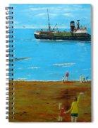 Returning Fishing Trawler  Spiral Notebook