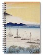Returning Sails At Yabase Spiral Notebook