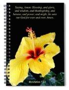 Revelation 7 Verse 12 Spiral Notebook