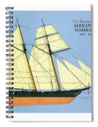 Revenue Cutter Alexander Hamilton Spiral Notebook