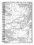 Revolutionary War Map, 1776 Spiral Notebook