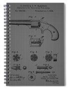Revolver Firearm Patent Blueprint Drawing Spiral Notebook