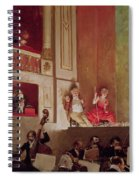 Revue At The Theatre Des Varietes, C.1885 Oil On Canvas Spiral Notebook