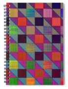 Rgby Squares II Spiral Notebook