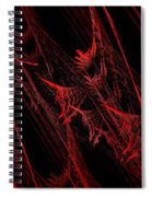 Rhapsody In Red H - Panorama - Abstract - Fractal Art Spiral Notebook