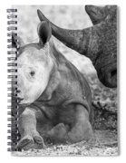 Rhino And Baby Spiral Notebook
