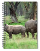 Rhino Family Spiral Notebook
