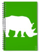 Rhino In Green And White Spiral Notebook