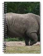 Rhino In The Wild Spiral Notebook