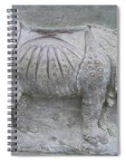 Rhino Relief - Church Door Detail Pisa Spiral Notebook