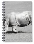 Rhinoceros Charcoal Drawing Spiral Notebook