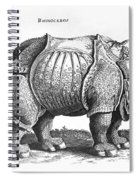 Rhinoceros No 76 From Historia Animalium By Conrad Gesner  Spiral Notebook