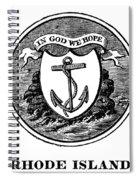 Rhode Island State Seal Spiral Notebook