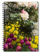 Rhodies And Tulips Spiral Notebook