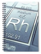 Rhodium Chemical Element Spiral Notebook