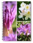 Rhododendron Collage Spiral Notebook