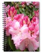 Rhododendron Garden Art Prints Pink Rhodie Flowers Spiral Notebook