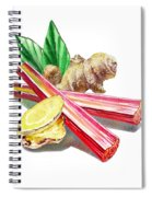 Rhubarb And Ginger Spiral Notebook