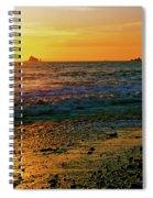 Rialto Beach Sunset Olympic National Park Spiral Notebook
