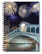 Rialto Bridge Fireworks Spiral Notebook