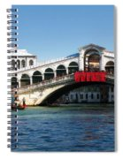 Rialto Bridge Venice Spiral Notebook