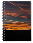 Ribbons Of Light Panorama Spiral Notebook