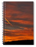 Ribbons Of Light Spiral Notebook