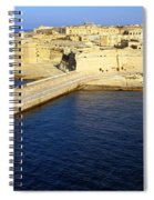 Ricasoli Breakwater At Valletta's Grand Harbor Spiral Notebook