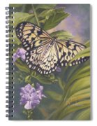 Rice Paper Butterfly Spiral Notebook