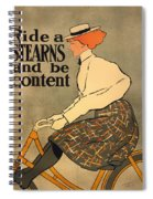 Ride A Stearns And Be Content Spiral Notebook