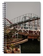 Ride The Roller Coaster Spiral Notebook