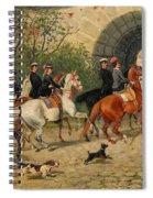 Riders At Uppsala Castle Spiral Notebook
