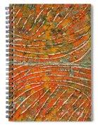 Ridges Encaustic Spiral Notebook