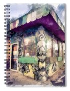 Riding High Skateboard Shop Watercolor Spiral Notebook