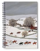 Riding In The Snow Spiral Notebook