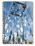 Riga Monument To Christmas Trees Spiral Notebook