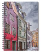 Riga Street Spiral Notebook