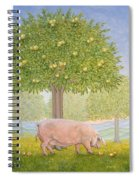 Right Hand Orchard Pig Spiral Notebook