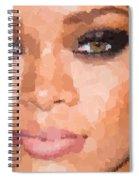 Rihanna Portrait Spiral Notebook