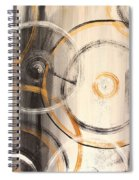 Rings Of Gold Abstract Painting Spiral Notebook