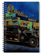 Rio Grande Homage 1950  Gas Station And Vehicle C.1935 Spiral Notebook